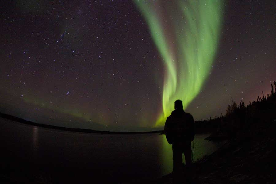 Northern Lights viewing at Namushka Lodge